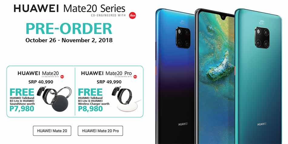 Huawei Mate 20 Pro price and preorder freebies, date and other info on Revu Philippines